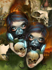 Jasmine Becket-Griffith art print SIGNED Hazardous Beauties biohazard cyberpunk