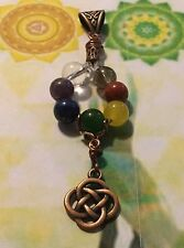 CHAKRA 12 CRYSTAL PENDANT LEMURIAN FUTURE TIME  REIKI HEAL SPELL AMULET WICCA