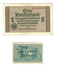 GERMANIA - 5 PF.(Ro250) +1 REICHSMARK GERMANY (4)
