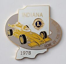 Lions Clubs International indiana home of the indy 500 lapel pin badge