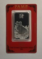 2019 Pamp Suisse Year of the Pig 1 Oz Silver Bar