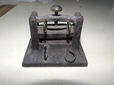 Miniture Cast Iron Book Press Cira 1875 Black Original Stamp Salesman Sample