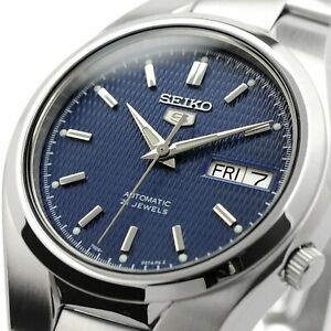 SEIKO 5 SNK603K1 SNK603 Automatic 21 Jewels Blue Dial Stainless Steel Men Watch