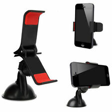 1 Car Windshield Mount Cell Mobile Phones Holder (Car Universal Holder) Black