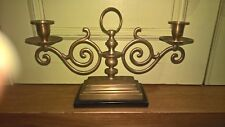 2 arm brass candelabra/ candle holder