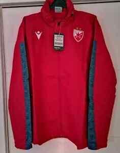 FC Red Star CRVENA ZVEZDA XL SIZE Macron- trening mesh jacket red-grey  official