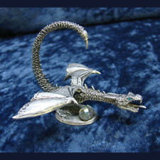 Wyvern with Crystal Dragon Pewter Figurine Rawcliffe US Made