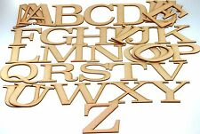 44 Piece MDF ALPHABET LETTER SET  3.2mm x 12.5cm  Say it WITH WOOD  102050 N