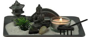 Thai Buddha Tea light Candle holder In Square Display Zen Garden