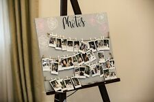 Hand Painted Grey Wooden Photo Board