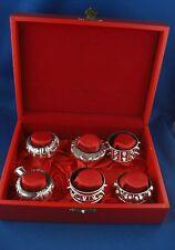 6x servilletero omán Orient sueltos 925er Sterling plata en noble Box
