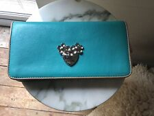 LOVE MOSCHINO VITELLO CROSS BODY BAG FAUX LEATHER WALLET ON CHAIN.