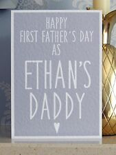 Personalised First Father's Day Card - Happy 1st Fathers Day - ANY NAME (Cards)
