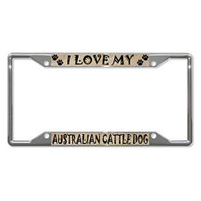 Australian Cattle Dog Dog Metal License Plate Frame Tag Holder Four Holes