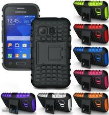 Granada Agarre Resistente Piel Duro Funda Soporte Para Samsung Galaxy YOUNG-2