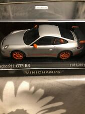 Porsche 911 GT3 RS Silver / Orange Minichamps 1/43 BNIB LE3216