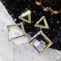 New Fashion Crystal Geometry Triangle Earring Drop Dangle Earrings Women Jewelry