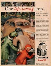 1937 General Dual 10 Tire Sister Saves Brother from Death Print Ad