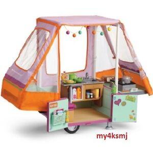 American Girl Doll CAMPER pop up ADVENTURE Camper VEHICLE Car trailer PLAYSET