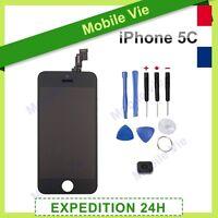 ECRAN IPHONE 5C NOIR VITRE TACTILE + LCD RETINA ORIGINAL SUR CHASSIS