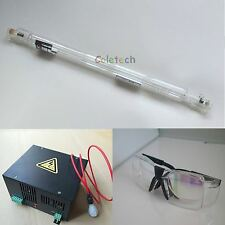 HQ 60W CO2 Laser Tube 1.2m + Power Supply Engraver + Goggles for Engraver Cutter