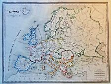 EUROPE ANCIENNE -Das alte Europa -  Grenzkolor.Kupferstich THIERRY,PARIS 1831
