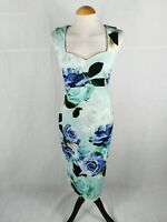 Ladies Maternity Dress Size 14 ASOS Aqua Blue Wiggle Pencil Party