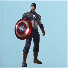 Captain America Avengers Photo Quality 3d Wall Sticker Art Mural 5 size XL-1.7m