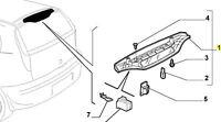 Mk2 & Mk2B 188 Fiat Punto Upper Rear Third Brake Light 735269368 New & Genuine