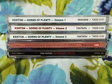 5 CD Lot Stan Kenton Like New Horns of Plenty Contemporary Concepts Romantic