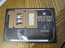 2017 ITG Stickwork 100 Greatest of All Time #GAT 10 Borje Salming Leafs 25 / 25