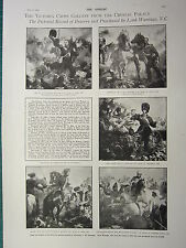 1900 VICTORIAN PRINT ~ VICTORIA CROSS GALLERY CRYSTAL PALACE PICTORIAL BRAVERY