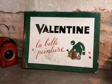 Ancienne plaque émaillée Peinture Valentine