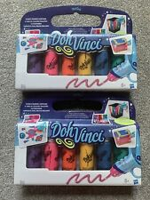 2 X Doh Vinci PlayDoh Sparkling Drawing Compound Refill 6 Tubes (12 Total)