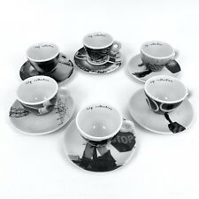 Illy Art Collection 1999 Bus Stops Pottorf Espresso Cups Saucers Mitterteich