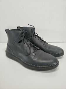 Clarks Women's Hale Rise Leather Ankle Boots Dark Gray Size 8 US