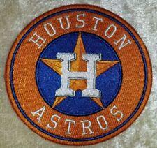 "Houston Astros 3.5"" Orange Iron On Embroidered Patch~FREE Ship~ USA Seller!"
