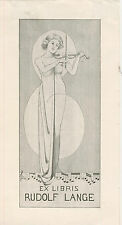 Ex libris Erotic Exlibris ART DECO by Unknown artist /germany