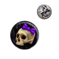 Girlie Punk Skull Lapel Hat Tie Pin Tack