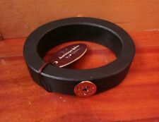 DOMINIQUE COHEN chunky bracelet Beau Coeur dark wood Heart Design thick NWT