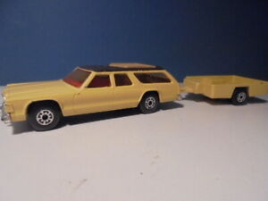 MATCHBOX LESNEY SUPERKINGS  DODGE MONACO & TRAILER, K-67,  c1978
