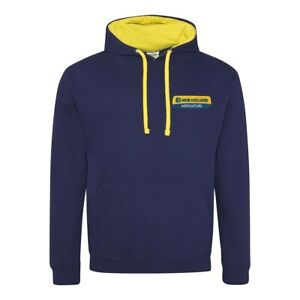 New Holland Tractor Contrast Hoodie- Embroidered- XS to XXL