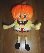 "TY Beanie Baby SPONGEBOB SQUAREPANTS PUMPKINMASK Plush Stuffed Animal 9"""