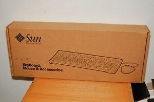 NOS Sealed SUN Foxboro Type 5C Keyboard & 3-Button Mouse Set 595-2686-11 X3540