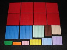 Lot of  95+ Math U See Manipulatives Blocks Teaching Aids Homeschool Montessori