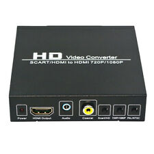 Metal SCART to HDMI Converter PAL / NTSC Upscaler Support HDMI Connector Output