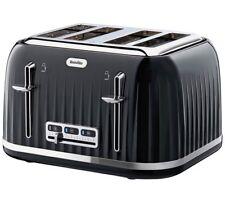 Breville VTT476 Impressions 4 Slice Toaster Breakfast, Lunch Or Dinner Black NEW