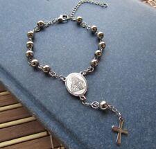 Bellissimo bracciale rosario modello unisex uomo donna sfere medie  - Acciaio