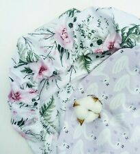 Moses Basket Fitted Sheet. Printed Cotton Sheet