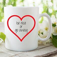 imprimé mugs être belle ou Go Away Noël EPOUX friend style petit ami Gobelet